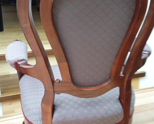 Sessel Louis Philippe - Mahagoni - aufgearbeitet und bezogen