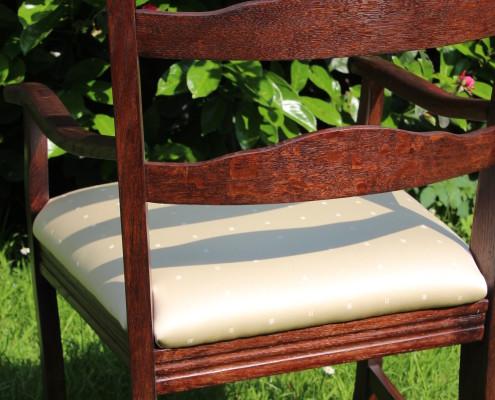 Sessel - Eiche - aufgepolstert und bezogen