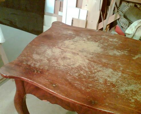 Tisch - vorher